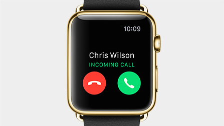 apple watch incoming calls