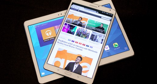 A close look at Samsung's  Galaxy Tab S