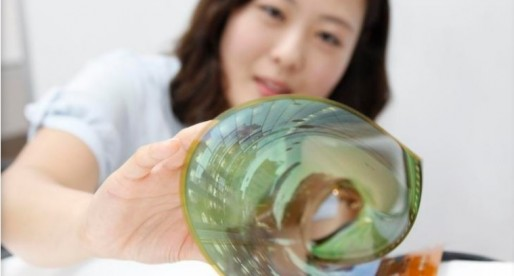 LG Display unveils flexible TV panel that can be rolled up to 3cm