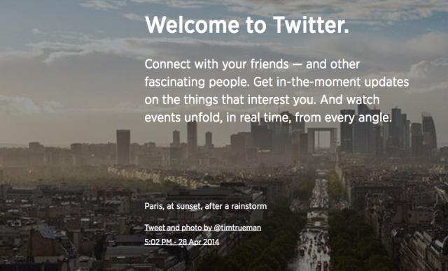 Twitter Gets a New Welcome Mat