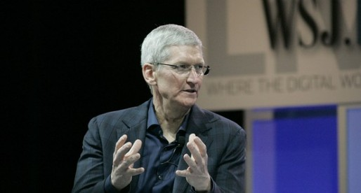 "Apple CEO joins the ""give it all away"" club"