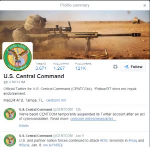 centcom twitter account