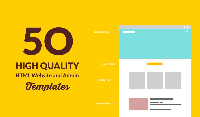 50 High Quality and Responsive HTML Website And Admin Templates That Will Blow Your Mind Off