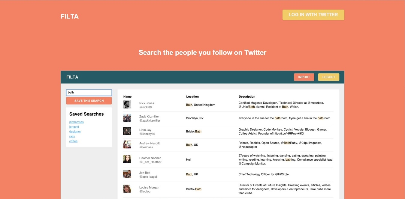 This is Filta; the app that does for Twitter what it should have done for itself