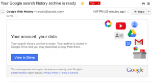 google-history-export-email message