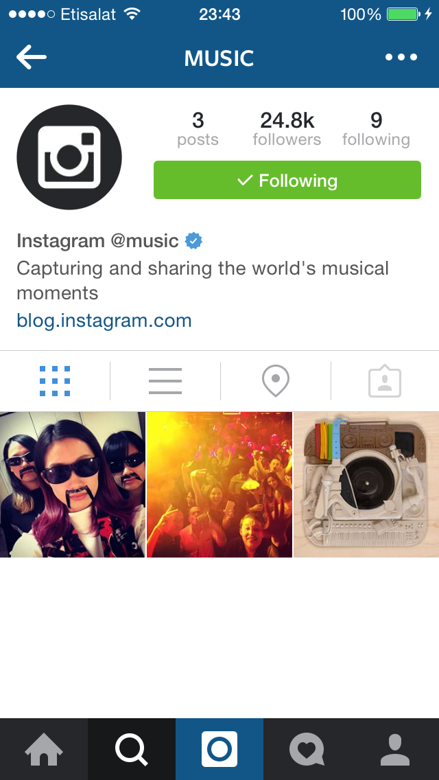 Instagram launches  @music Account To promote Music