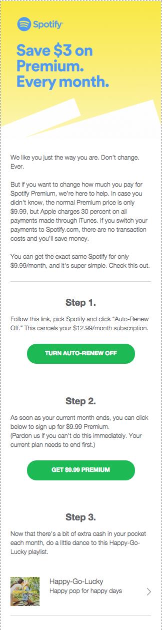 Spotify notification - Apple pay