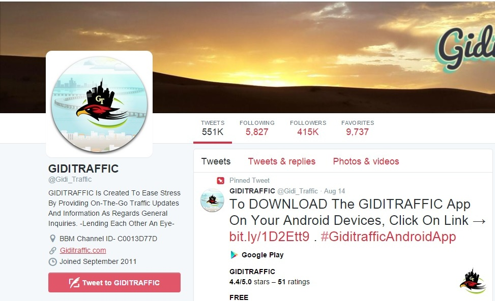 Gidi traffic