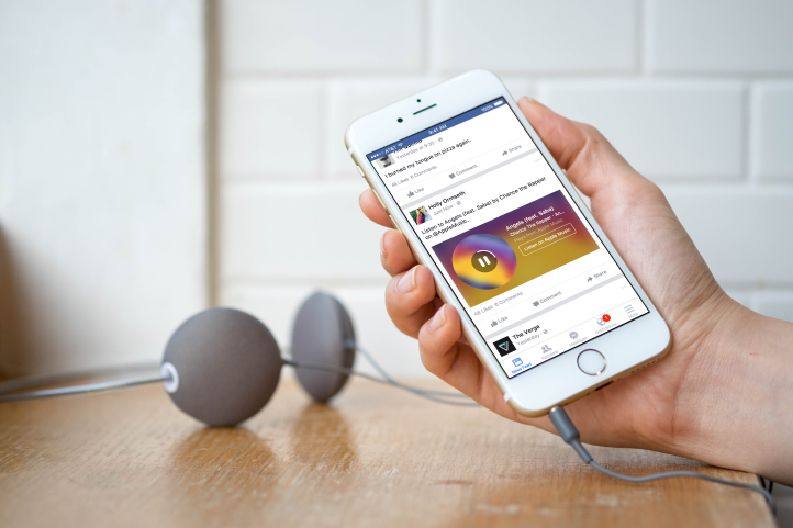 "Facebook Introduces ""Music Stories""; A 30 Sec Music Preview To Your News Feed"