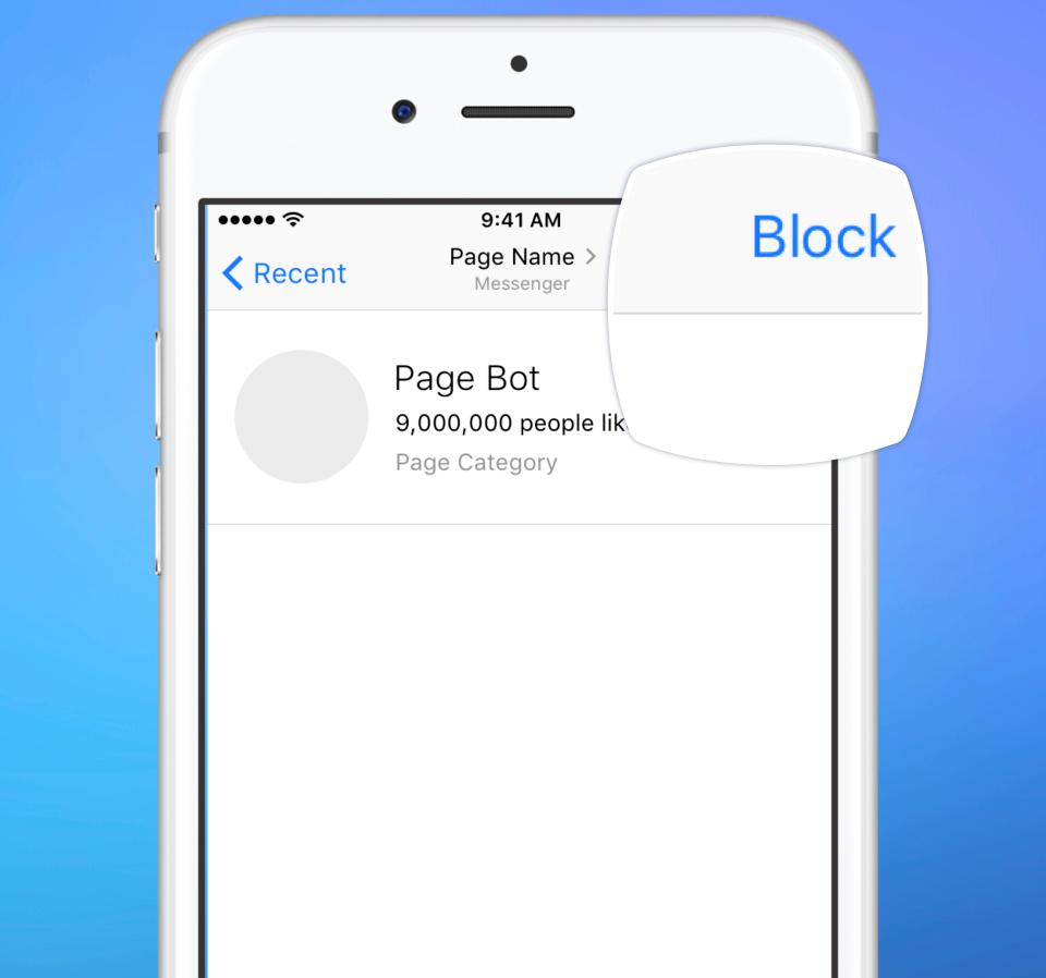 chatbot block