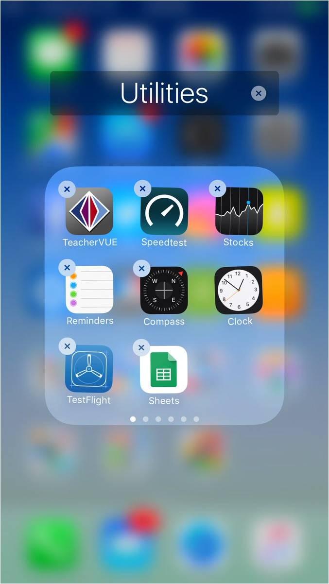 iOS 10 - removebale apps