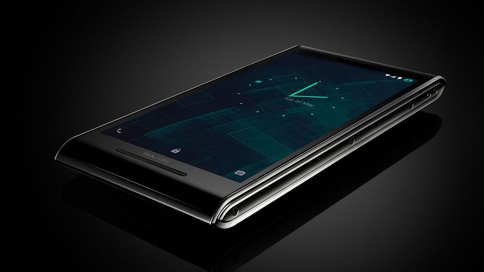 Solarin phone home screen