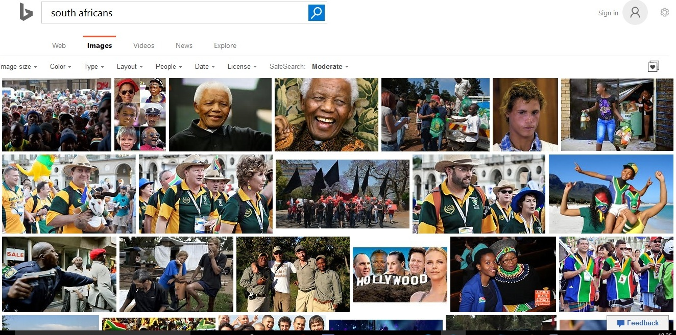 south africans bing.com search