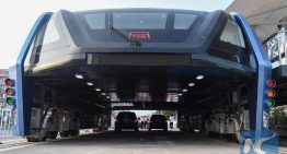 China Unveils Transit Elevated Bus (TEB) To Ease Road Congestion