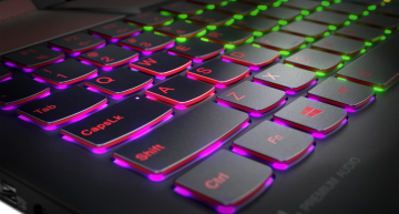 It features an optional RGB keyboard
