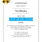 TOP BLOG AWARD 2016 TO TECHBOOKY EXPLAINED