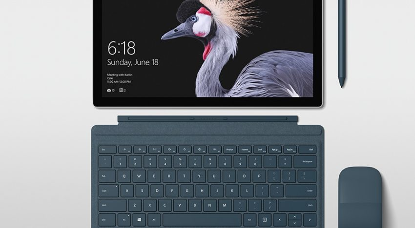 The new Surface Pro features the Microsoft Surface Arc Mouse