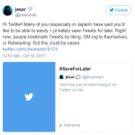 Twitter Is Testing A Bookmark Feature That Will Allow Users Save Tweets For Later