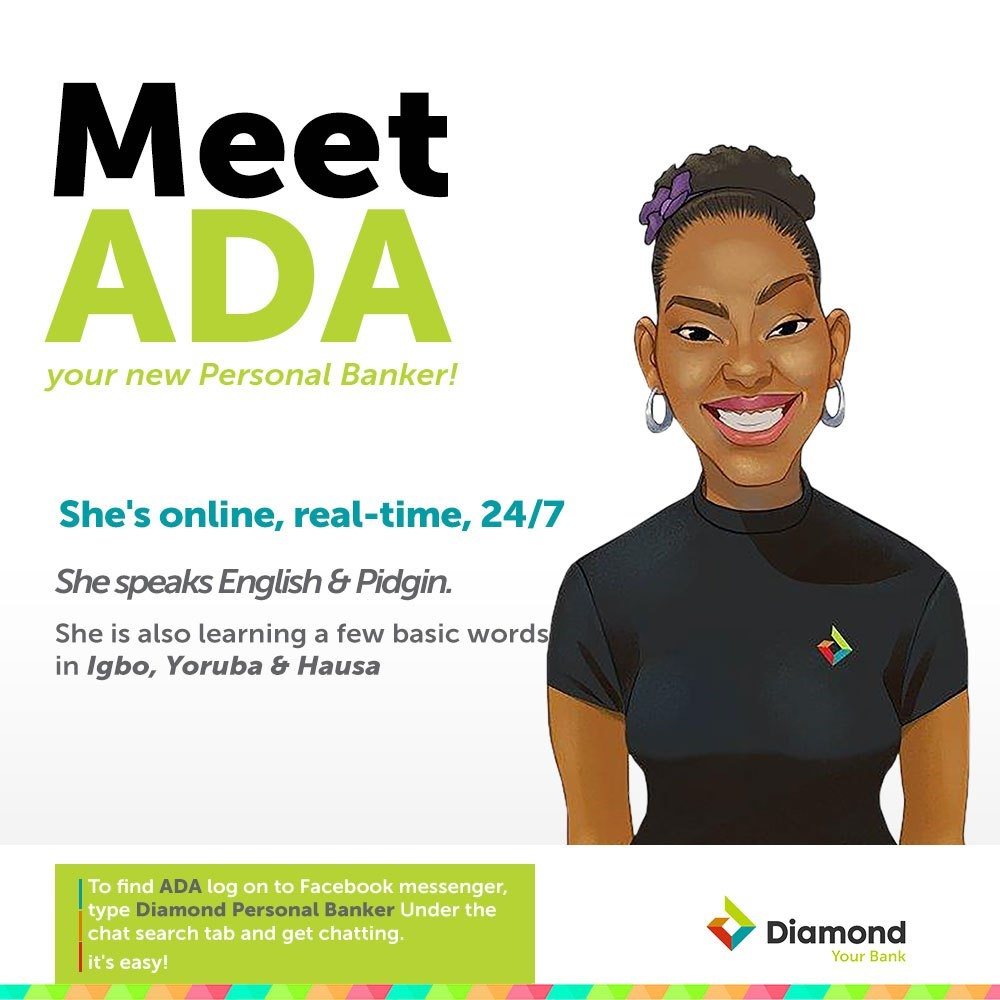 Meet The Diamond Bank Chatbot Called Ada That's Supposed To Help Customers