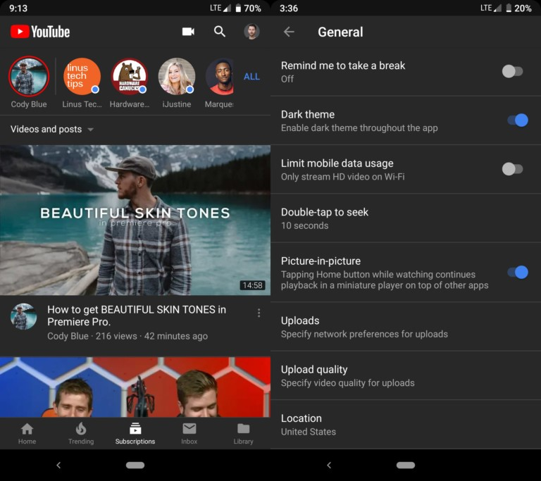 Android Users Can Now Get YouTube's Dark Mode