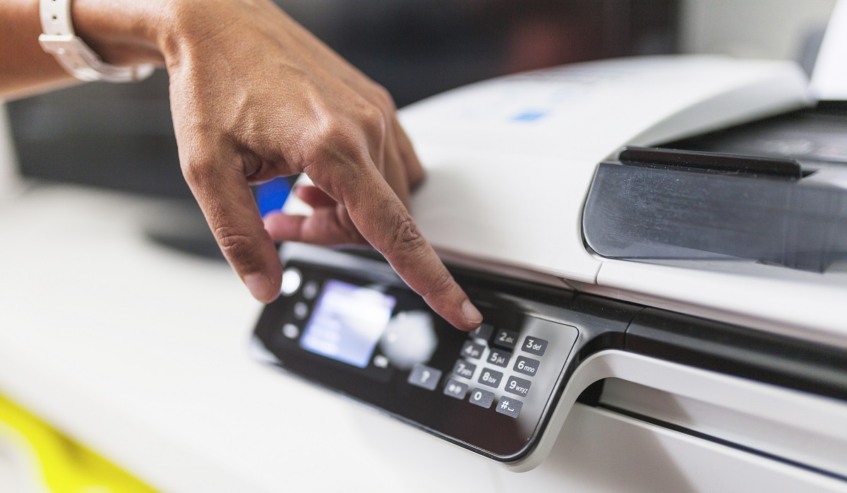 printer display hand