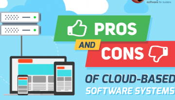 Infographic: Pros And Cons Of Cloud-Based Software Systems