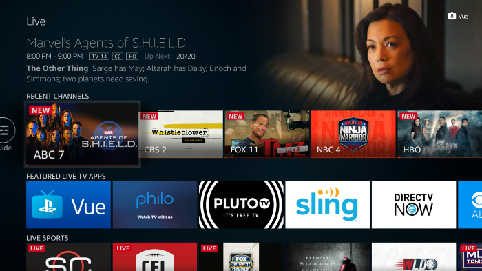 """Amazon is adding a """"Live"""" tab on all Fire devices and Fire TV edition smart TVs"""