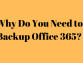 Why Do You Need to Backup Office 365? A Detailed Explanation