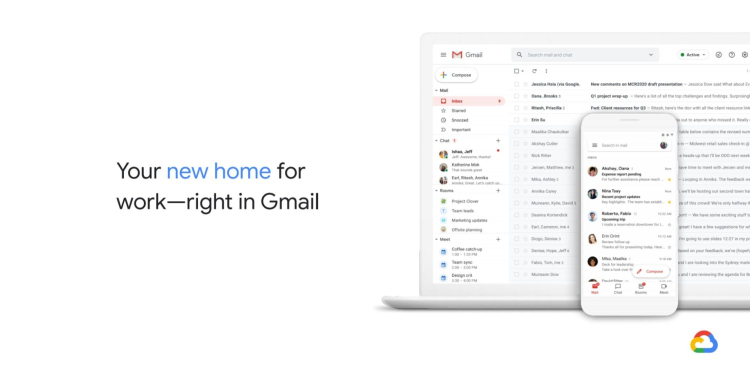 Massive Gmail Redesign Brings New Features Like Meet And Rooms Together